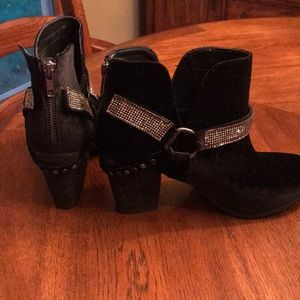 Not Rated Shoes - Not rated Velvet bootie with blingey accent